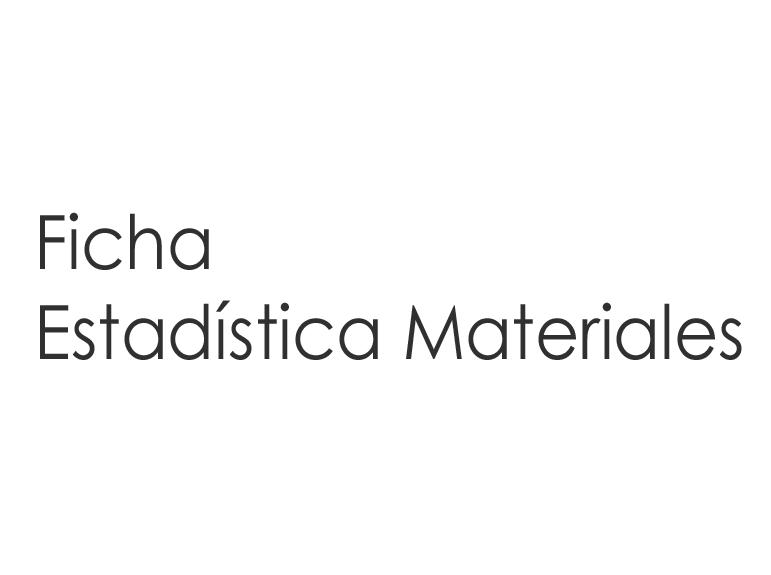 ESTADÍSTICA DE MATERIALES